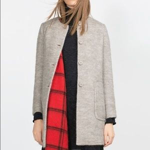 Mohair Zara Wool Gray Coat